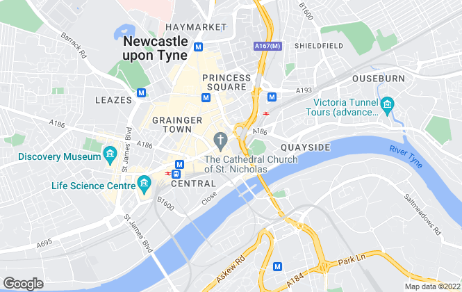 Map for Minel Venues LLP, Newcastle Upon Tyne