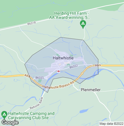 Map of property in Haltwhistle
