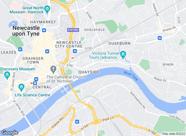 Map for Knight Frank - New Homes, Newcastle Upon Tyne