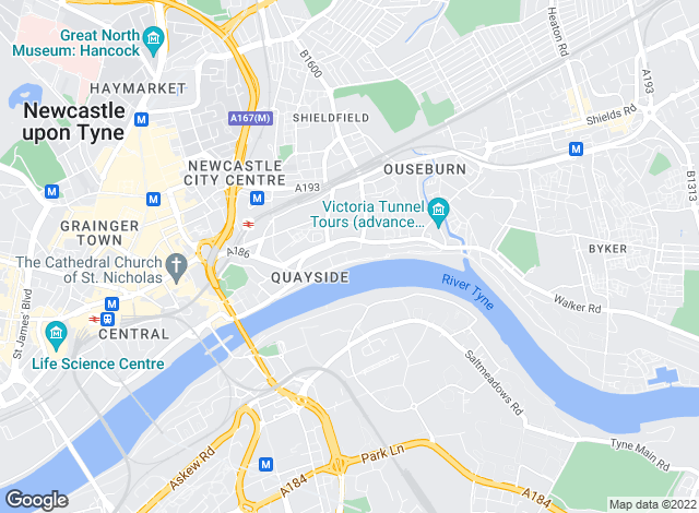Map for Week 2 Week Serviced Apartments Ltd, Newcastle-Upon-Tyne