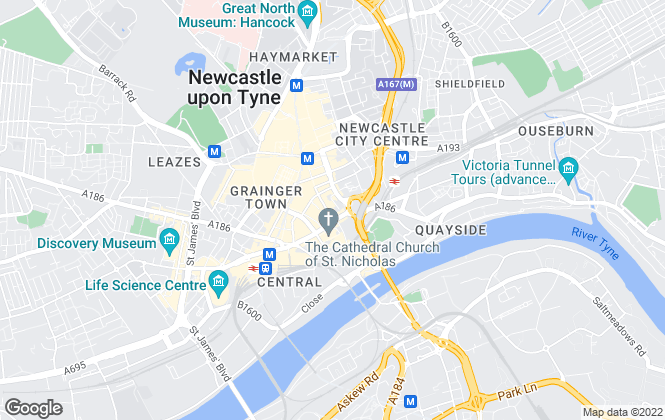 Map for Bradley Hall Chartered Surveyors, Newcastle upon Tyne - Commercial