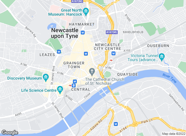 Map for Bradley Hall Chartered Surveyors, Newcastle upon Tyne