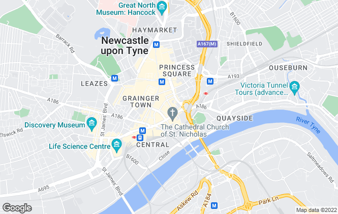 Map for Lambert Smith Hampton, Newcastle