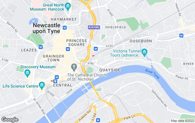 Map for Nest, Newcastle