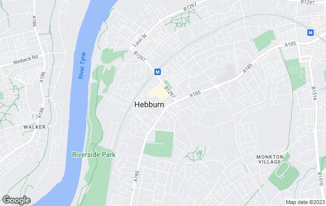 Map for Reeds Rains, Hebburn