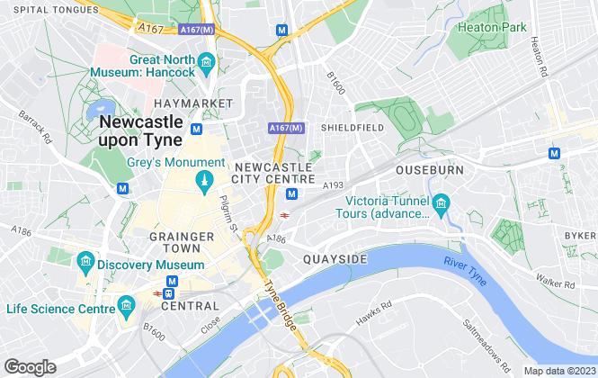 Map for Bricks & Mortar, Newcastle Upon Tyne