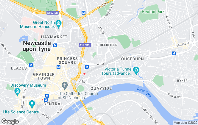 Map for Property Circle, Newcastle-Upon-Tyne