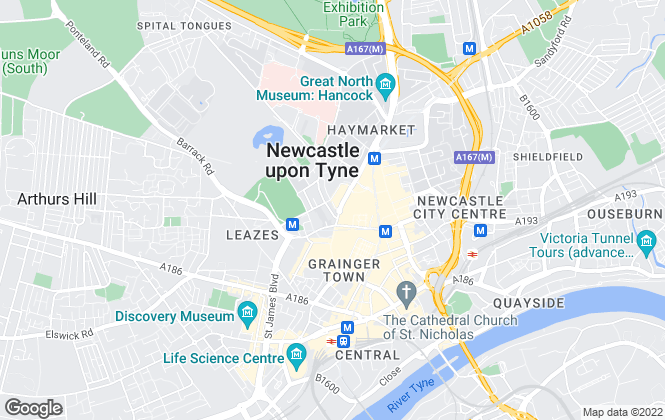 Map for Citybase Lettings Limited, Newcastle Upon Tyne
