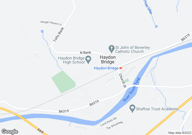 Map for NORTHUMBERLAND, Haydon Bridge