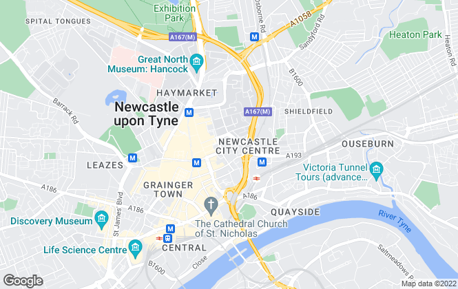 Map for Naylors , Newcastle Upon Tyne