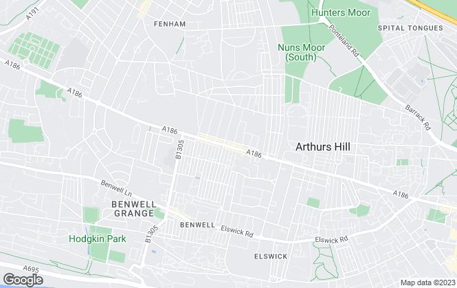 Map for HM Residential, Fenham