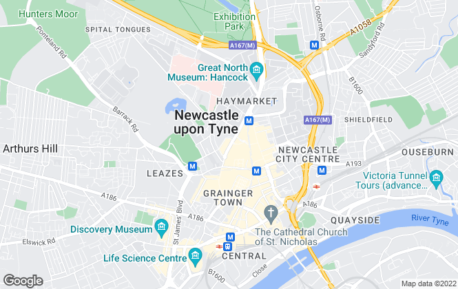 Map for NLD Estates, Newcastle Upon Tyne