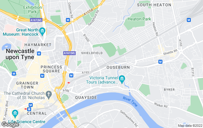 Map for Adderstone Group, Newcastle
