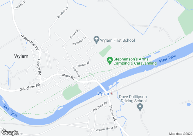 Map for Falcon Terrace, Wylam, Northumberland, NE41