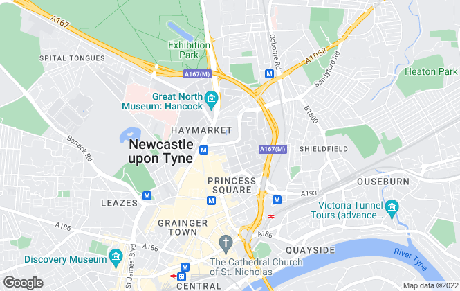 Map for Roseworth Student Lettings, Newcastle Upon Tyne