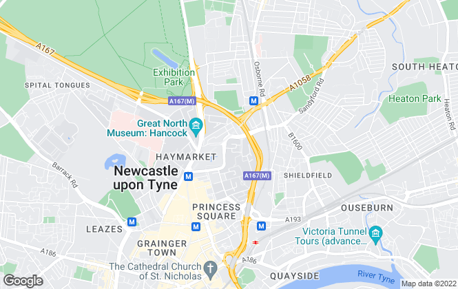 Map for NU Lets, Newcastle