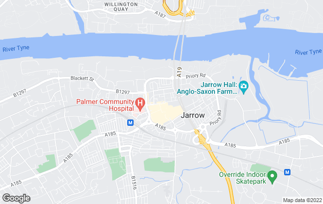 Map for Andrew Craig, Jarrow