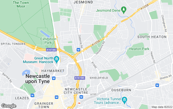 Map for Daley Lettings Ltd, Newcastle Upon Tyne