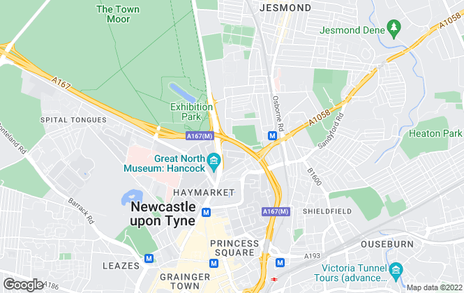 Map for Portland Residential , Newcastle Upon Tyne