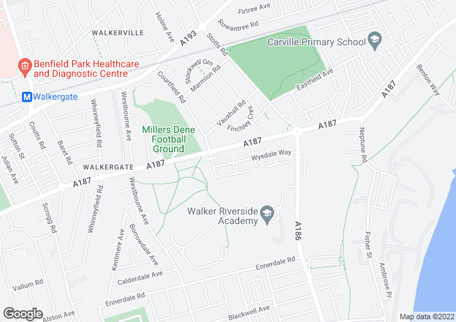 Map for ** 3 BED MODERN HOUSE ** Wyedale Way, Newcastle Upon Tyne