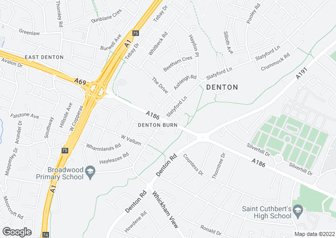 Map for 678 West Road, Denton Burn, Newcastle upon Tyne, NE5 2UR