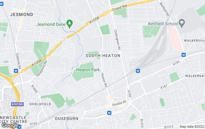 Map for Heaton Property, Heaton