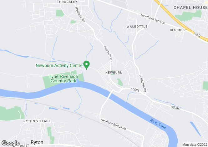 Map for Davison Street, Newburn, Newcastle Upon Tyne, NE15