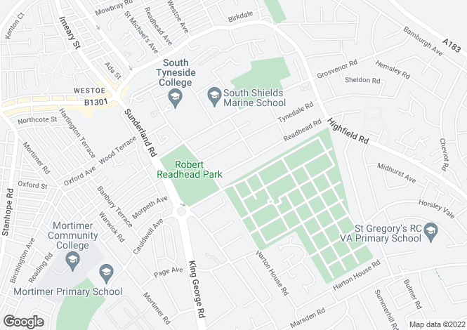 Map for Readhead Road, ,  South Shields