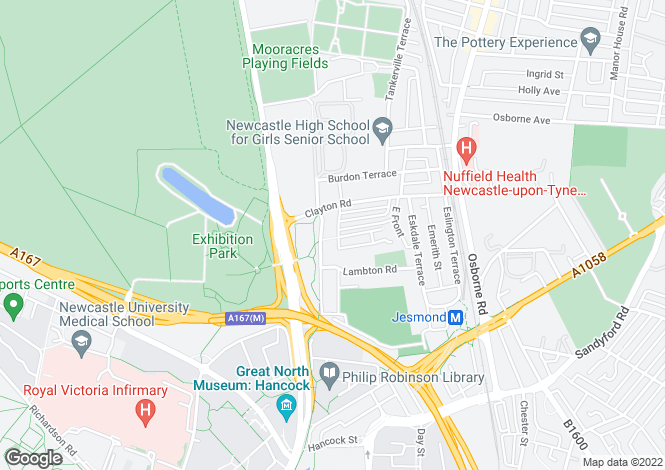 Map for Brandling Park,