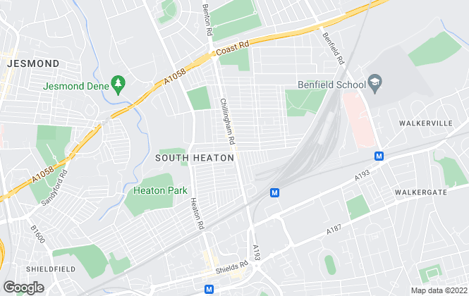 Map for YOUR MOVE, Heaton