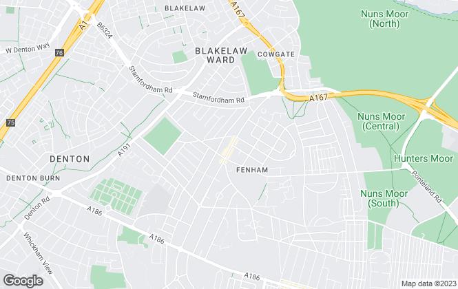 Map for Fairs Estates, Fenham