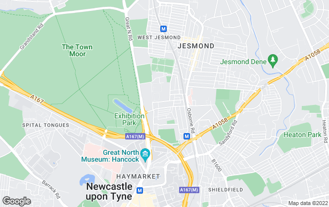 Map for Adderstone Estates Limited, Newcastle
