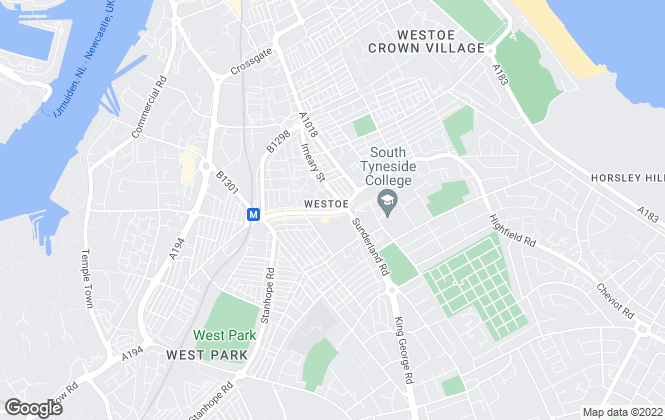 Map for The Letting Group, South Shields