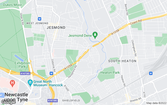 Map for Pro-lets, Jesmond