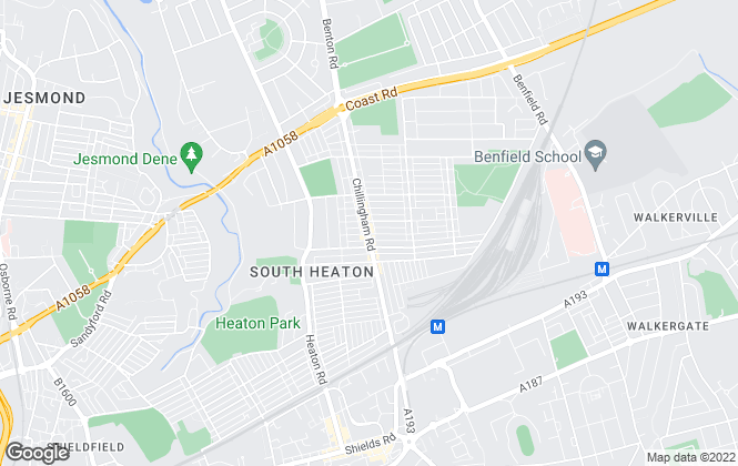 Map for Pattinson Estate Agents, Heaton