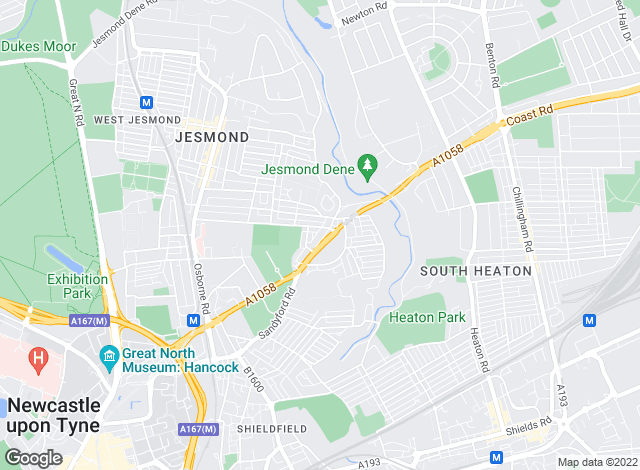 Map for Pro-lets.co.uk, Jesmond