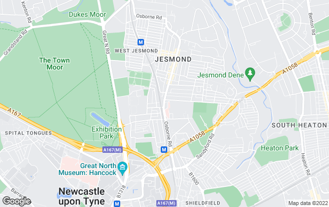 Map for Pat Robson, Jesmond