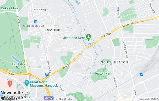 Map for Baskeys, Newcastle Upon Tyne