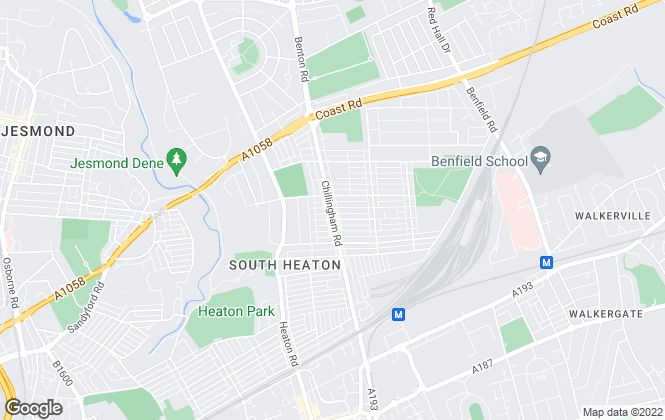 Map for Bowes Mitchell, Heaton