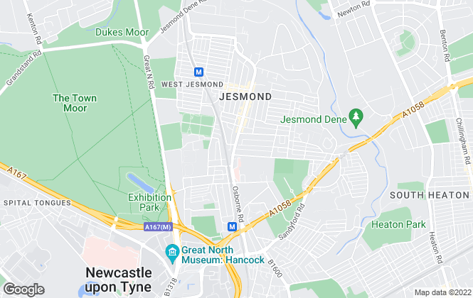 Map for Welcome Homes , Jesmond