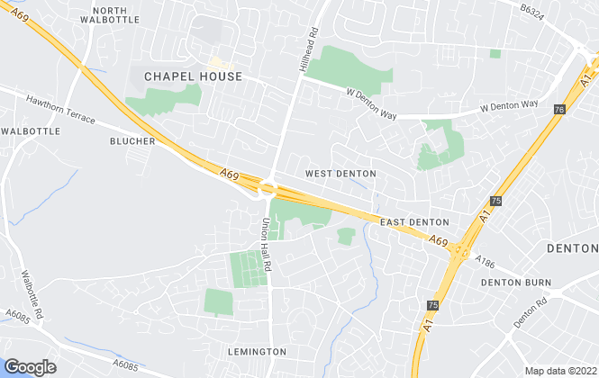 Map for YOUR MOVE Chris Stonock Lettings, West Denton