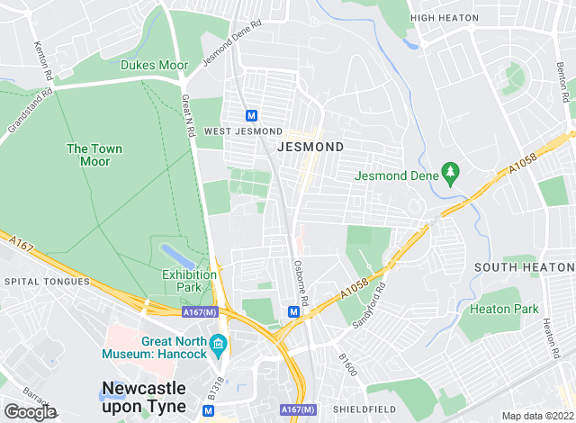 Map for Mansons residential Sales & Letting Consultants, Jesmond