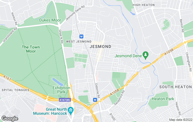 Map for Jesmond Property Shop, Jesmond