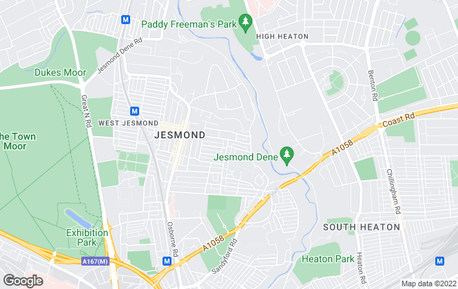 Map for Foster Maddison Property Consultants, Jesmond