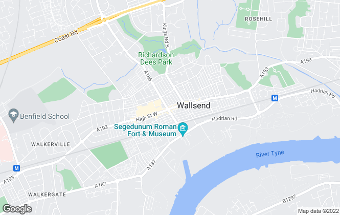 Map for Reeds Rains Lettings, Wallsend