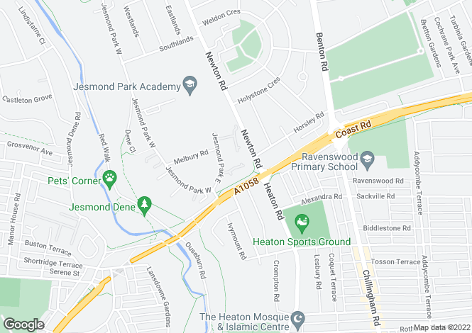 Map for Jesmond Park Court,
