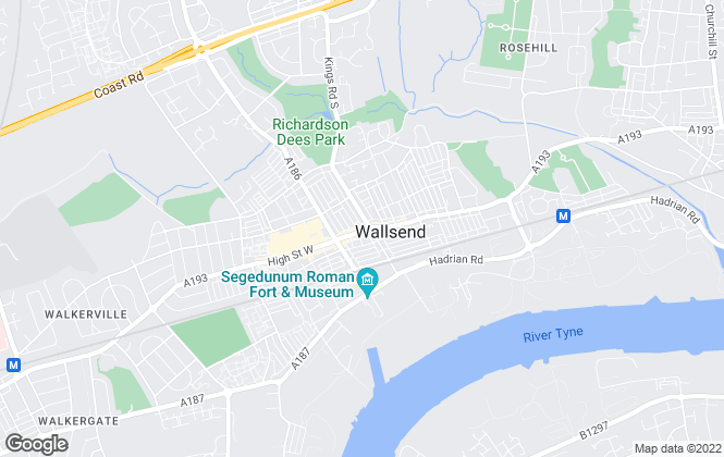 Map for Mike Rogerson Estate Agents, Wallsend