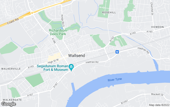 Map for Distriktonline, Wallsend