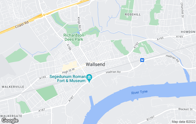 Map for Pattinson Estate Agents, Wallsend