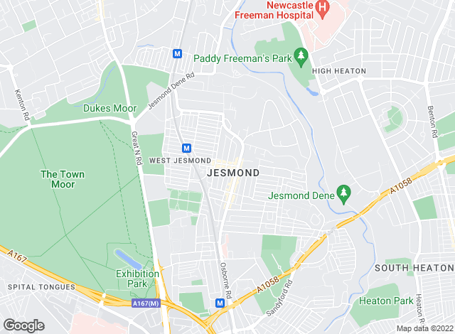 Map for Groves Residential, Jesmond